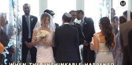 Młoda para musiała uciekać. Ślub przerwano