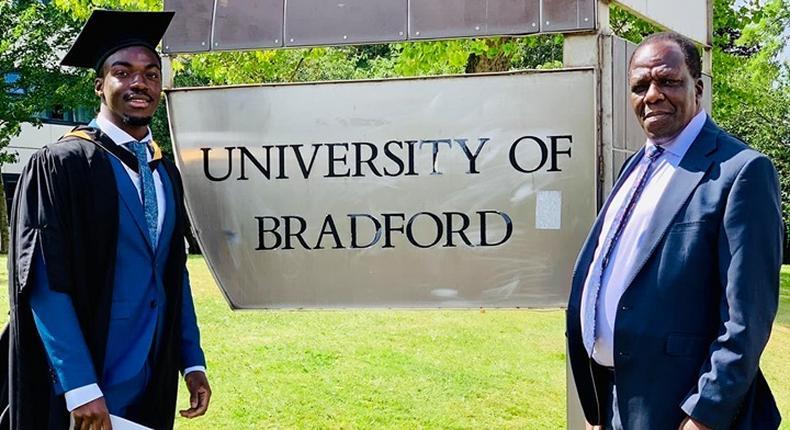 Governor Oparanya's son graduates in UK