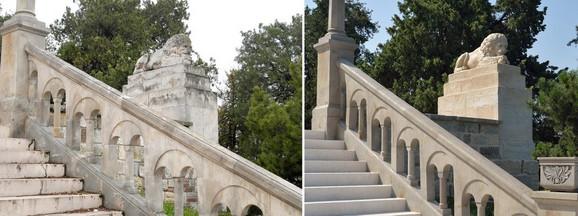 Rekonstruisana ograda Velikog stepeništa