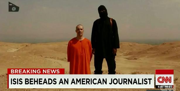 Kadr z domniemanej egzekucji Jamesa Foleya