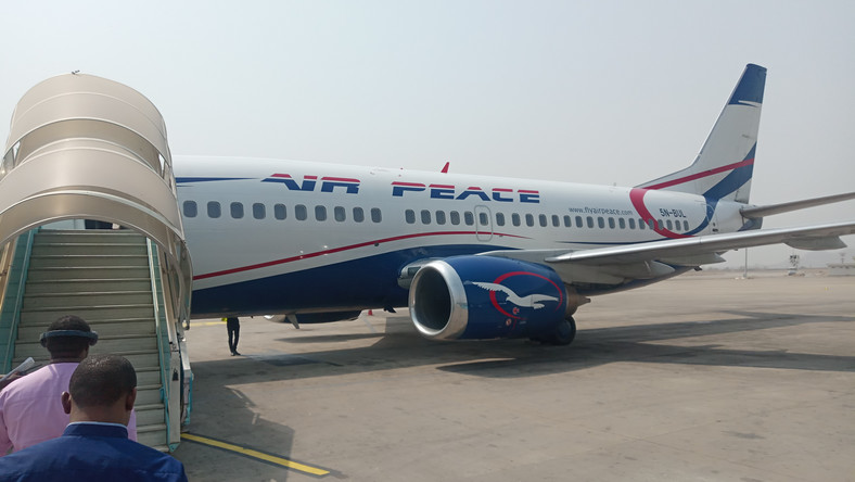 Passengers getting on-board Air Peace flight in Abuja