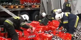 Wypadek w Lęborku! Setki litrów piwa leżały na obwodnicy!