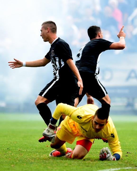 Omladinci Partizana na meču sa Zvezdom
