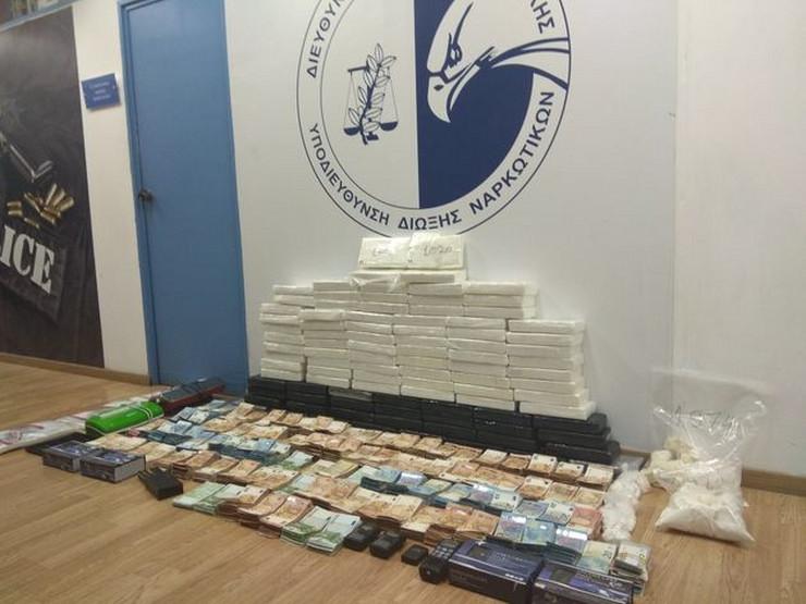 Zaplena, Atina, kokain, uhapšen Crnogorac, Milan Tišma