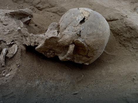 Lobanja jedne od žrtava