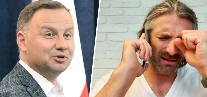 Maciej Dowbor zadrwił z prezydenta Andrzeja Dudy. To nagranie rozbawiło internautów do łez