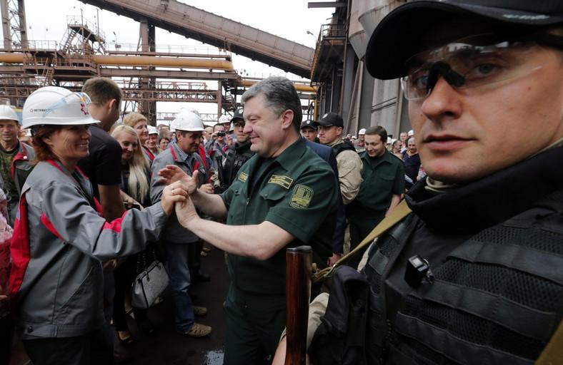 Petro Poroszenko spotyka się z mieszkańcami Mariupola