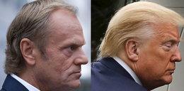 """Tusk tak wygląda przez koronawirusa? Urósł mu """"żółw Trumpa"""""""