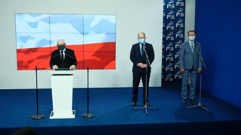 Jarosław Kaczyński, Adam Bielan, Arkadiusz Czartoryski