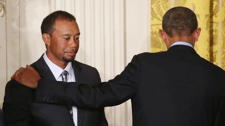 Tiger Woods i Barack Obama