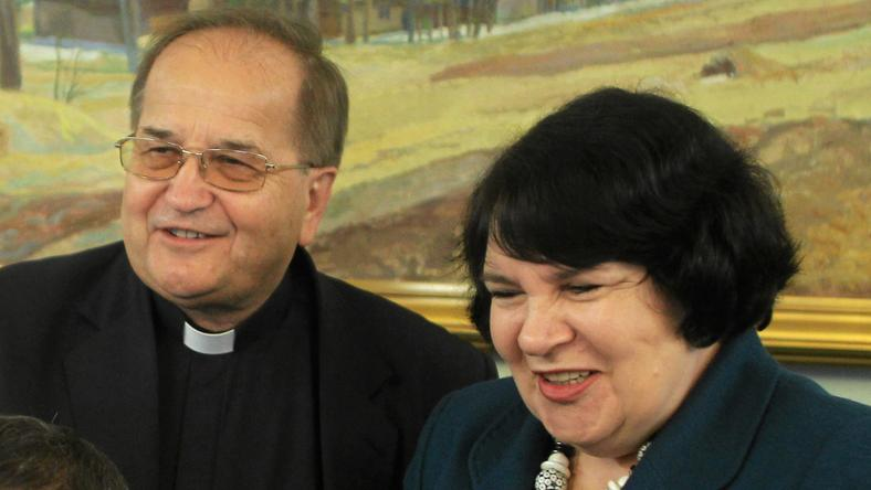 Anna Sobecka i Tadeusz Rydzyk