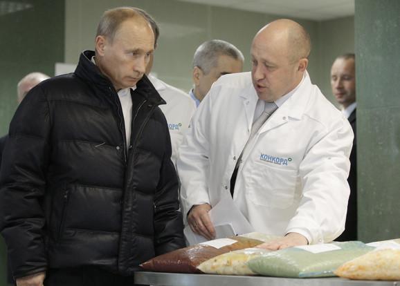 Vladimir Putin i Jevgenij Prigožin