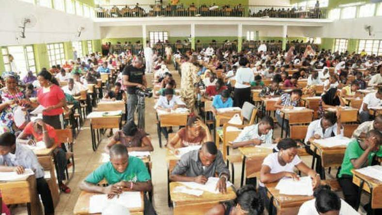 Private Candidates Writing Examinations. Photo: Pulse.ng