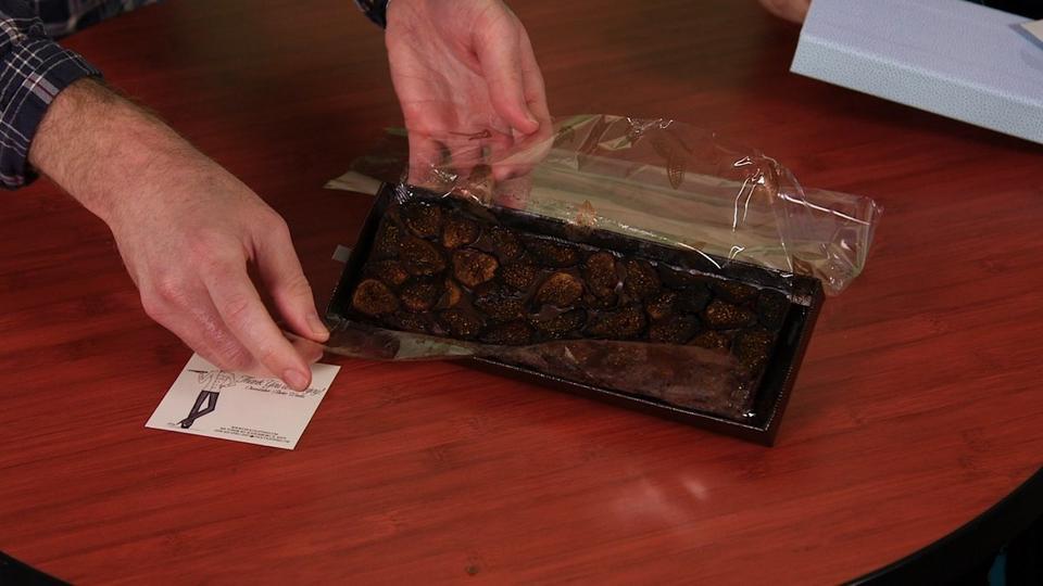 Oscarowa torba z prezentami to dużo słodkości. Drunken Fig Cake Bites to figi w czekoladzie i winie.