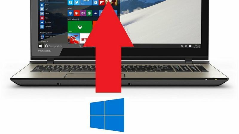 Wymuszenie aktualizacji do Windows 10, fot. własne