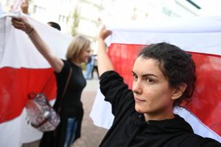 W Gdyni zorganizowano manifestację solidarności z Białorusinami