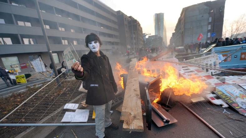 Organizatorem protestu jest antykapitalistyczny ruch Blockupy.