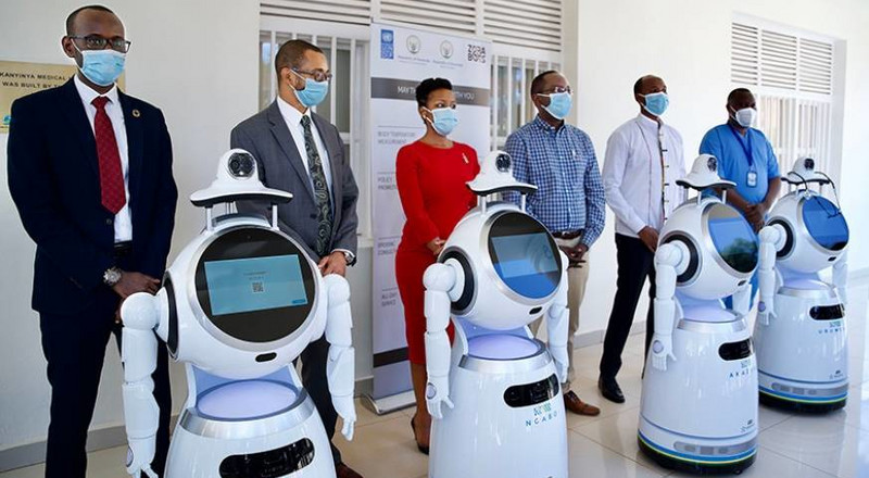 Rwanda deploys high-tech robots to screen and deliver food to COVID-19 patients
