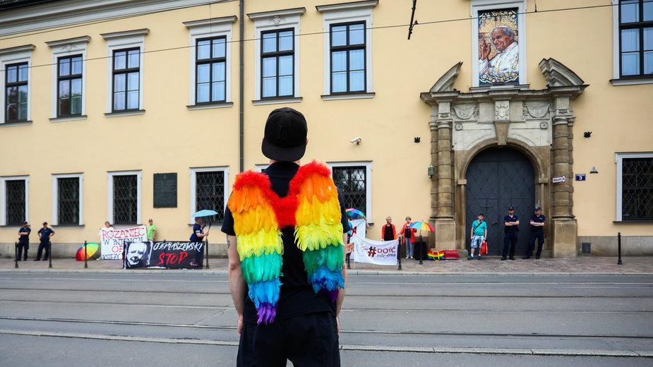 Protest przeciwko homofobii abp Jędraszewskiego