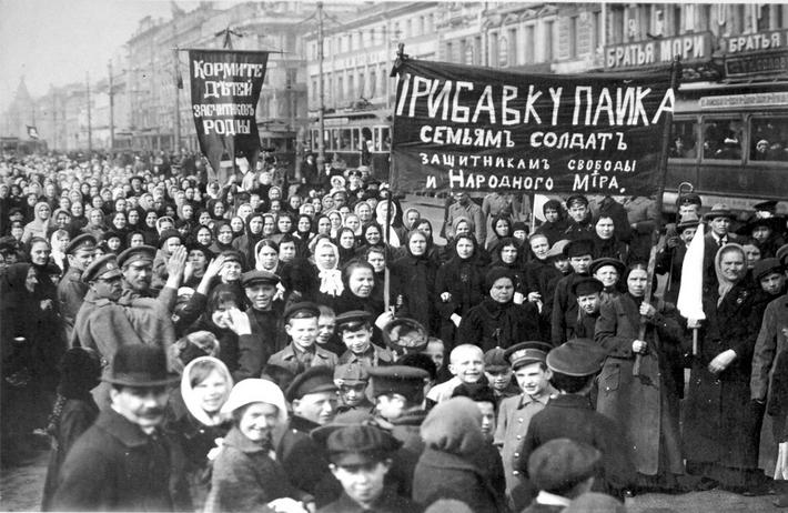 Russian Revolution / Worker's Rally / Photo 1917
