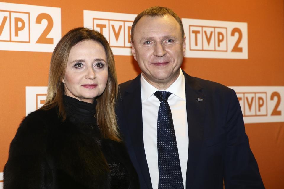 Szef TVP Jacek Kurski z partnerką Joanną Klimek