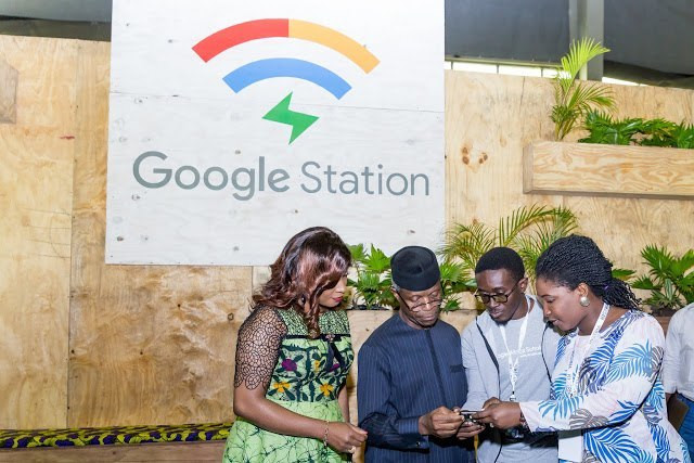 Google country manager and vice president Yemi Osinbajo during a launch of Google Stations in Lagos