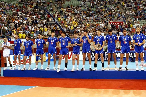 U Svetskoj ligi u Madridu 2003. odbojkaši SCG su osvojili srebrnu medalju