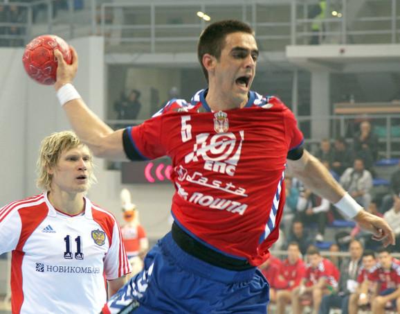 Žarko Šešum u dresu reprezentacije Srbije