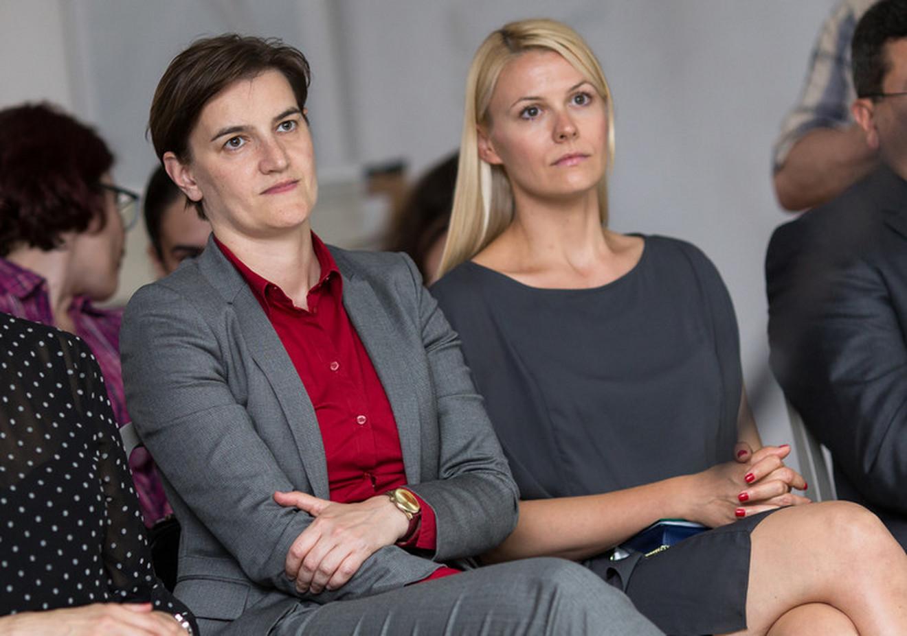 Milica Đurđić i Ana Brnabić