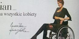 Monika Kuszyńska na billboardach reklamuje rajstopy