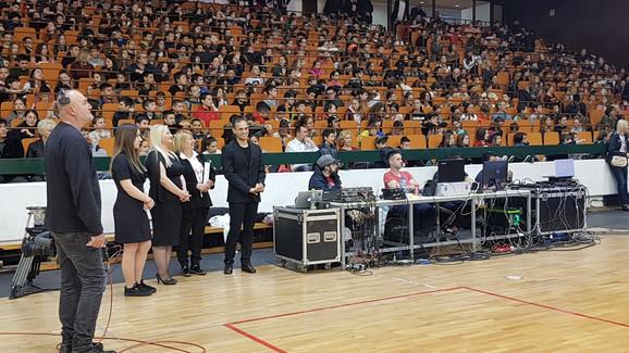 Detalj sa svečane ceremonije otvaranja Sportske igre mladih u Novom Sadu