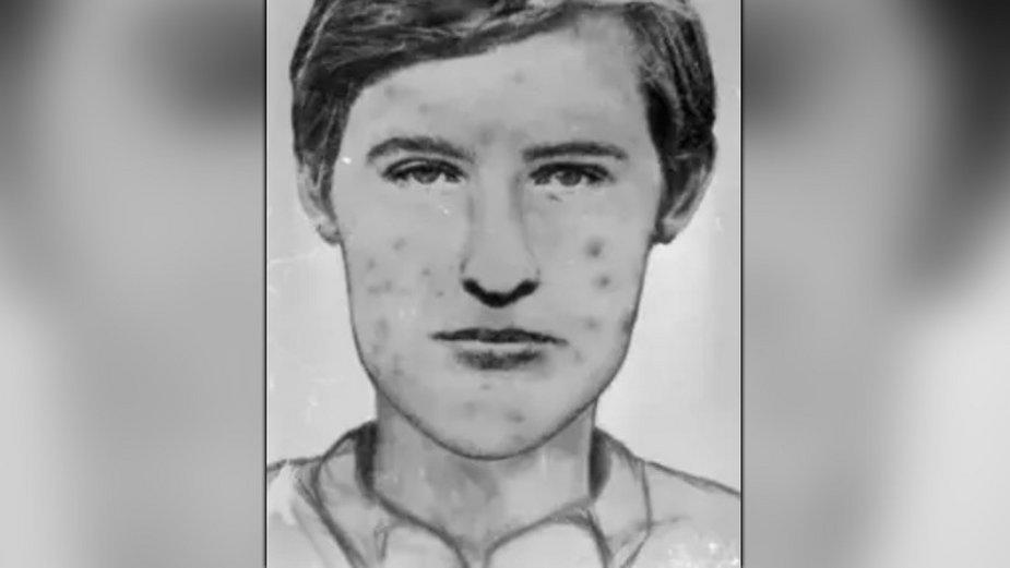 Portret pamięciowy mordercy, który policja sporządziła w 1986 roku
