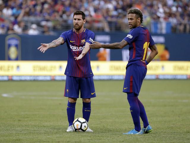 Leo Mesi i Nejmar iz perioda kada su zajedno igrali u Barseloni