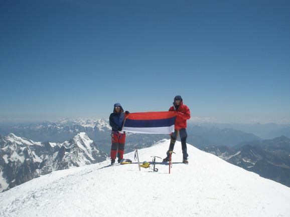 Alpinisti iz Srpske na vrhu Alpa