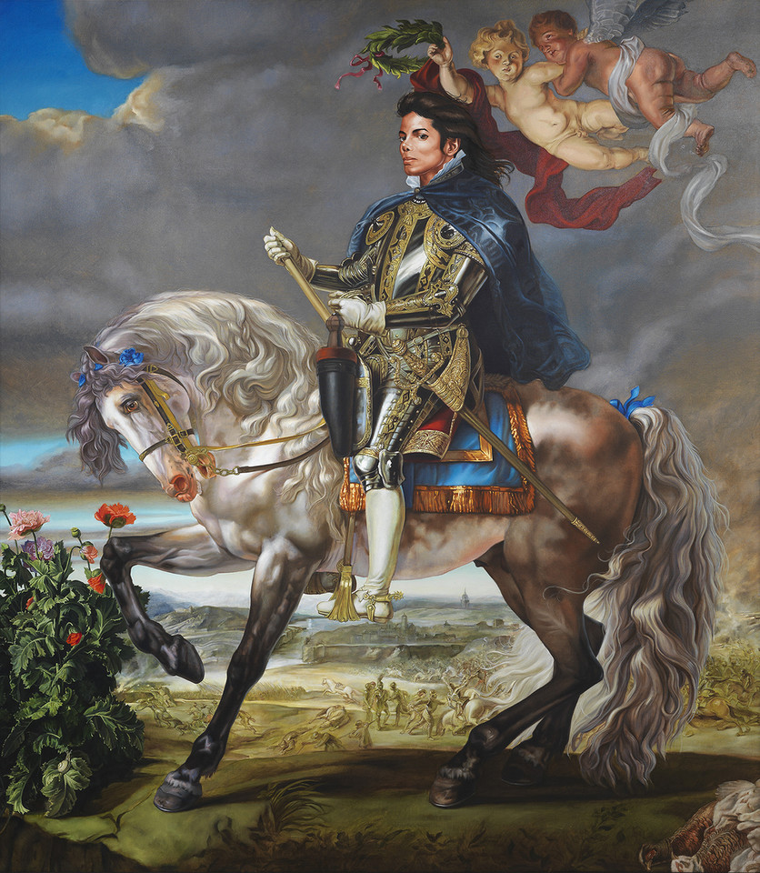 "Kehinde Wiley, ""Equestrian Portrait of King Philip II (Michael Jackson)"" (2010)"