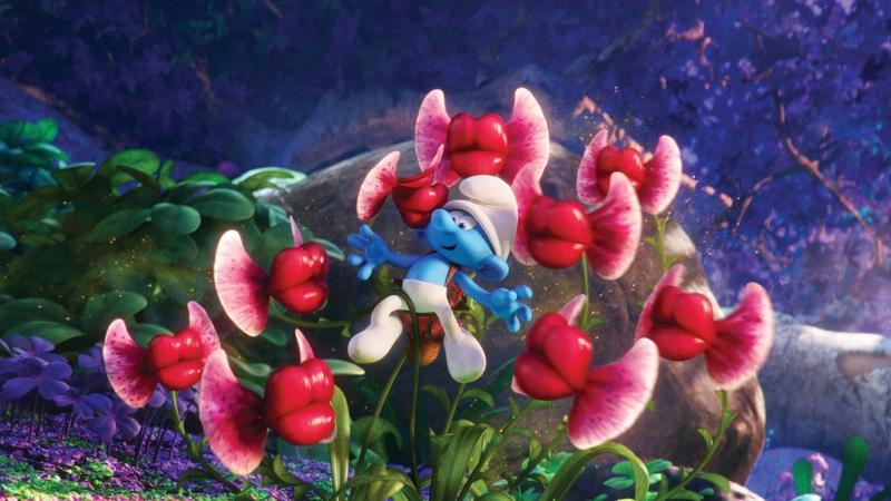 """""""Smerfy: Poszukiwacze zaginionej wioski"""" - kadr z fiolmu"""