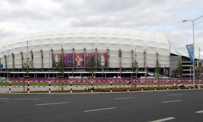 Stadion w Poznaniu.