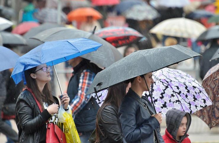kiša, kišobrani
