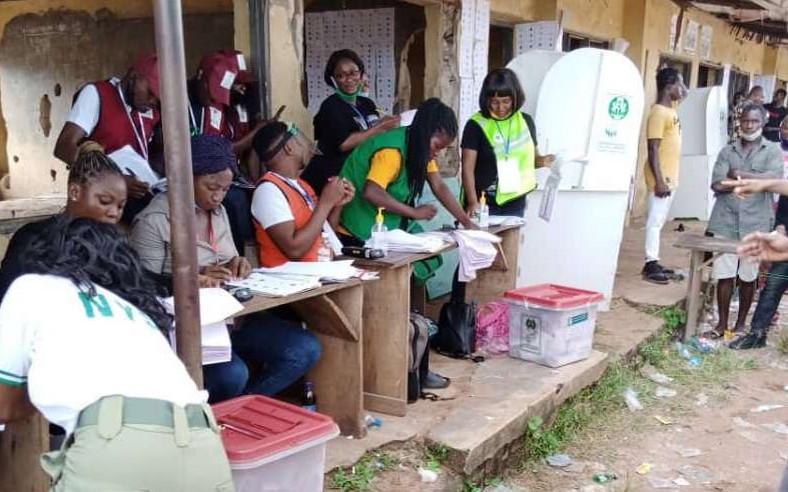 Voting ends in Ward 6, Unit 11, Evabareke, Egor LG. (Premium Times)