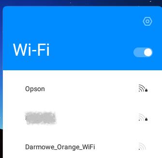 Menu wyboru sieci WiFi, fot. własne