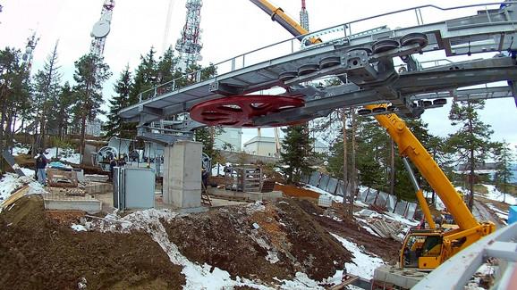 Krajnja stanica gondole na Torniku izgrađena je početom zime