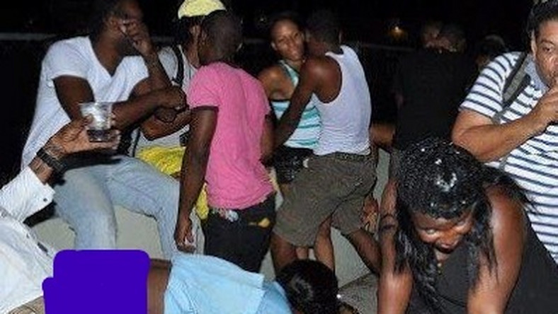 File image of a people partying at a club