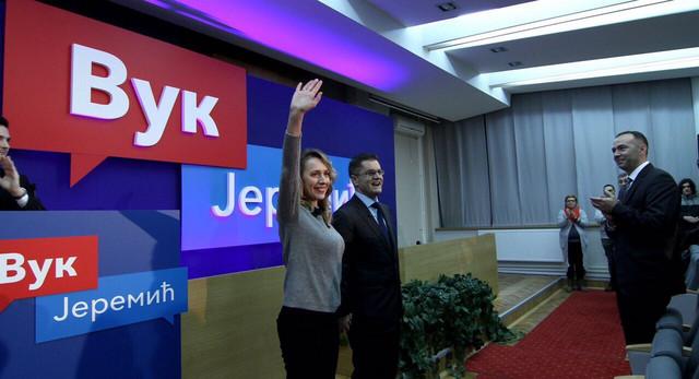 Podrška: Jeremić je sa suprugom Natašom