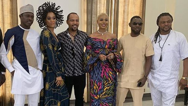 'The Millions' cast: Ali Nuhu, Chika Lann, Ramsey Nouah, Nancy Isime, AY and Toka McBaror.
