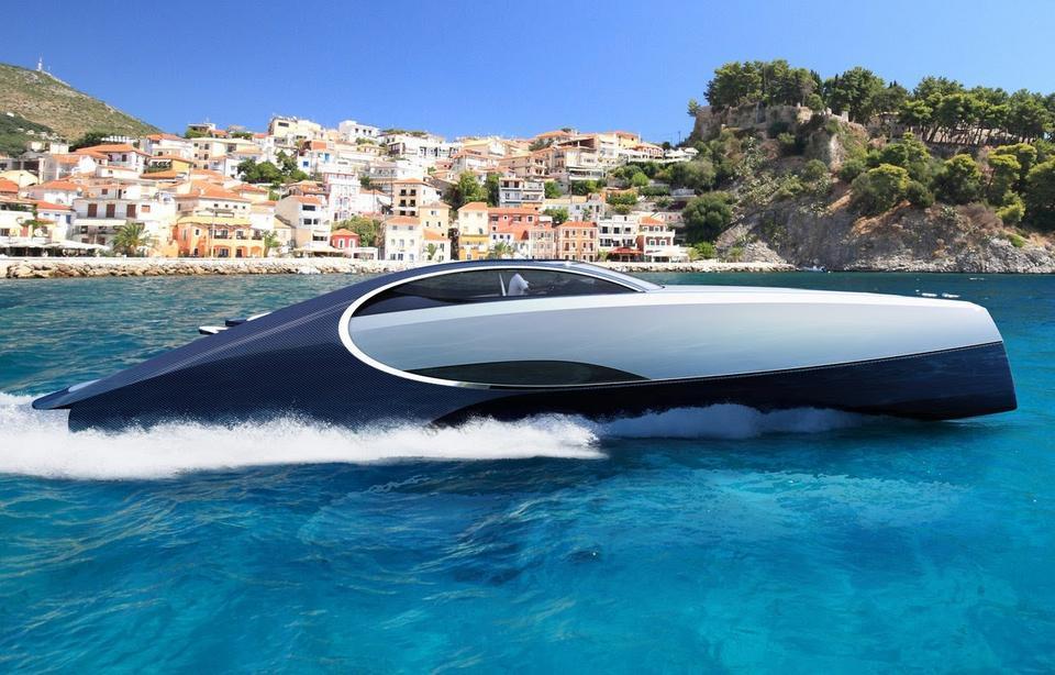 Bugatti Niniette ma 20 metrów długości. Wykonano go z włókna węglowego. Firma twierdzi, że jacht rozpędza się do 44 węzłów (81,5 km/h).