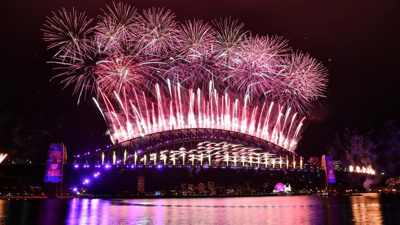 Noworoczne fajerwerki w Sydney