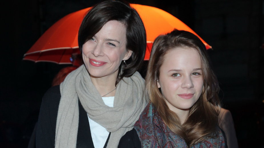 Agata Kulesza z córką Marianną Figurską