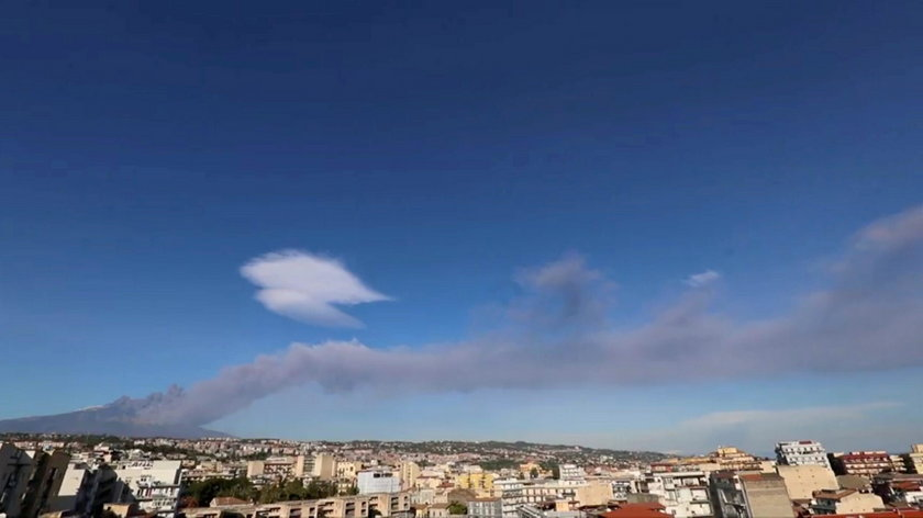 FILE PHOTO: Italy's Mount Etna, Europe's tallest and most active volcano, spews lava as it erupts on