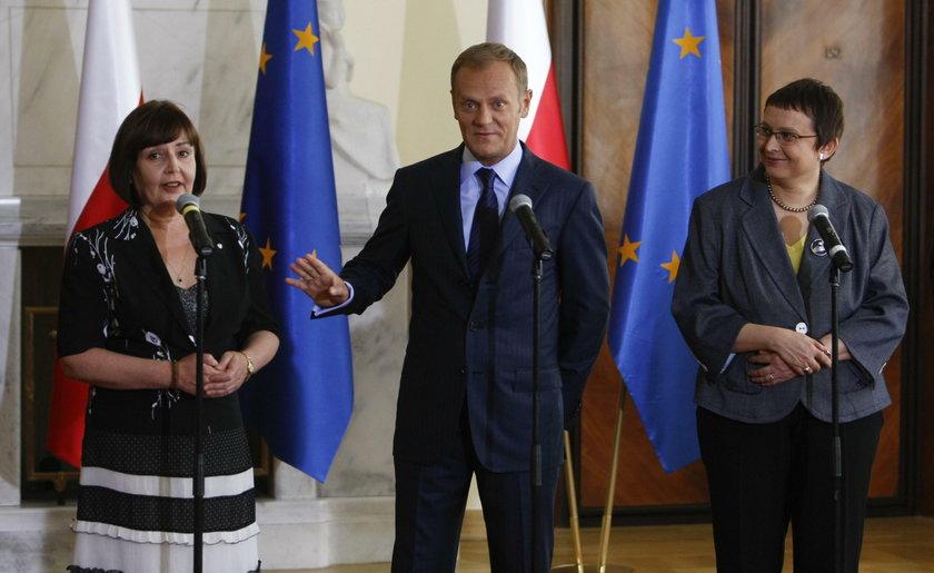 Jolanta Fedak, Donald Tusk, Katarzyna Hall