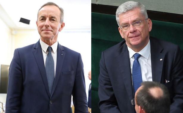Karczewski podczas środowej konferencji prasowej w Senacie odniósł się do niedawnego wyjazdu Grodzkiego do Włoch i jego zachowania po powrocie.